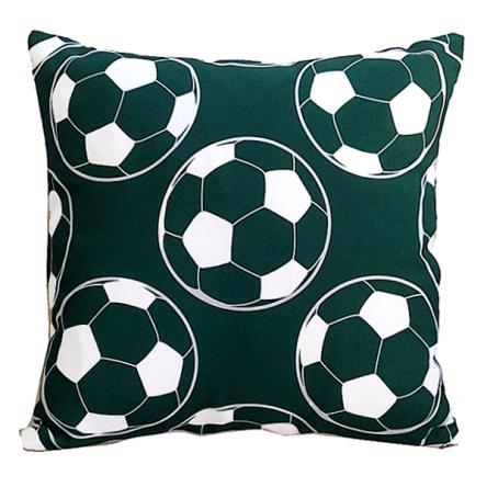 Δίχρωμο μαξιλάρι με σχέδιο πράσινες μπάλες, 35x35cm