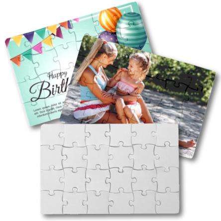 Puzzle για προσκλητήριο ή για εκτύπωση φωτογραφίας, 19x14cm, Α5 με 24κομ.