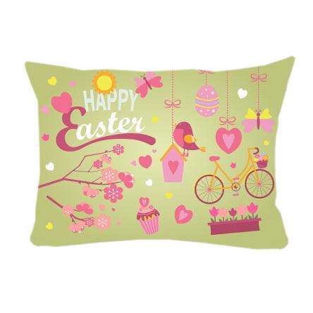 """Δίχρωμο μαξιλάρι """"Πεταλούδες – Καρδούλες"""", 43x30cm, προσωποποιημένο φωτογραφικό δώρο"""