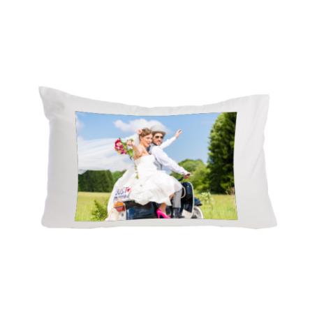 Ολόλευκη μαξιλαροθήκη eco-soft, ΛΕΠΤΗ, 60x30cm, για προσωποποιημένο δώρο