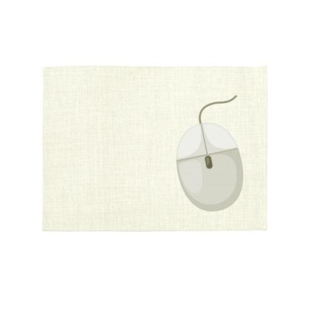 Mouse pad από ύφασμα LINEN, οικονομικό, σε χρώμα μπεζ ανοιχτό, 28x22cm