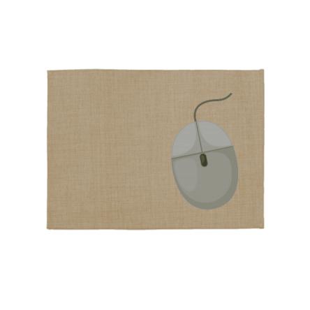 Mouse pad από ύφασμα LINEN, οικονομικό, σε χρώμα μπεζ σκούρο, 28x22cm