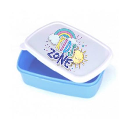 Εκτυπώσιμo πλαστικό δοχείο φαγητού σε γαλάζιο χρώμα, για προσωποποιημένο δώρο