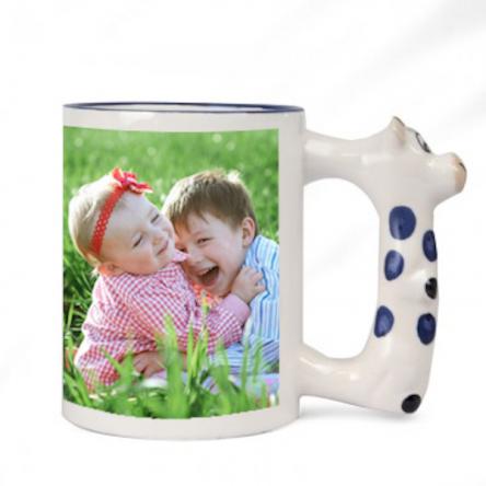 Sublimation Παιδική Κούπα με χερούλι αγελαδίτσα, διαθέτει κουτάκι