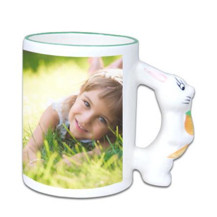 Sublimation Παιδική Κούπα με χερούλι λαγουδάκι, διαθέτει κουτάκι