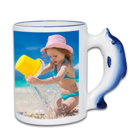 Sublimation Παιδική Κούπα με χερούλι δελφίνι, διαθέτει κουτάκι