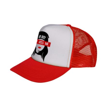 Καπέλο Sublimation με δίχτυ σε κόκκινο χρώμα, εξαιρετικής ποιότητας
