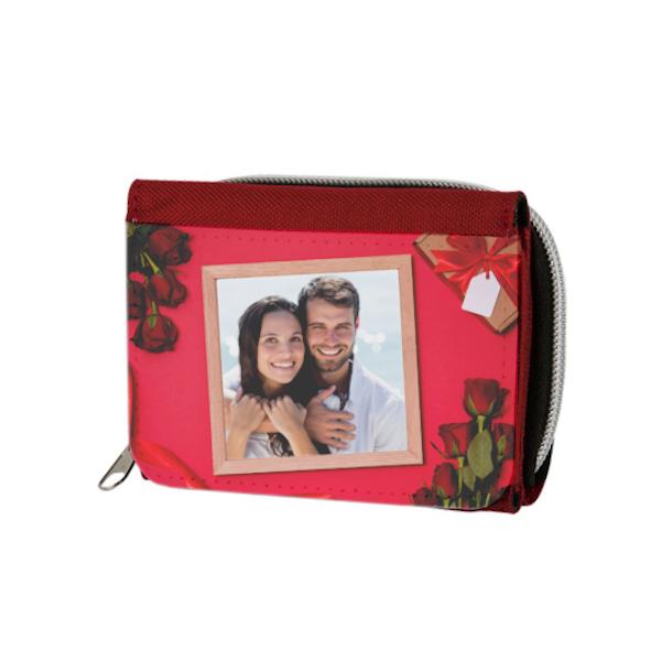 προσωποποιημένο πορτοφόλι σε κόκκινο χρώμα