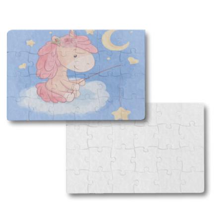 Puzzle από τσόχα για προσκλητήριο βάπτισης – γάμου, 19x14cm, Α5 με 24κομ.